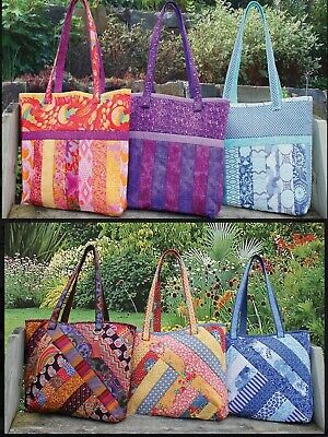 June Tailor Quilt As You Go Tote Bags Kit with Pre-printed 80/20 Wadding Batting