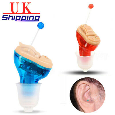 Mini In-Ear Sound Voice Amplifier Portable Invisible Ear Hearing Aid Enhancer UK