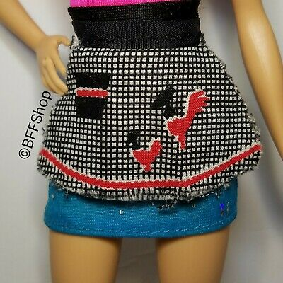 Mattel Rooster Checkers Apron ~ Barbie Vintage Fashion Accessory Diorama Play Re