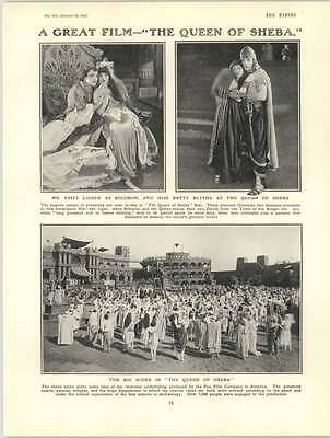 1922 Queen Of Sheba Film Fritz Lieder Betty Blythe Col Mouse Tomkinson
