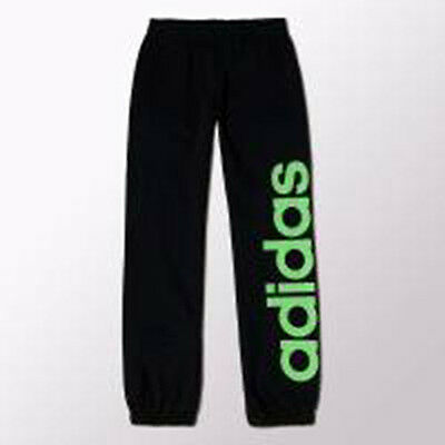 Size 11/12 Years Old - Adidas Originals Kn Kids Jog Pants - Black / Green