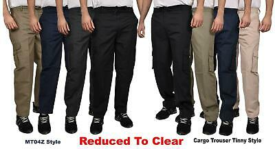Mens Cargo Trousers Combat Work Lightweight Elasticated Tactical Pro Causal Pant
