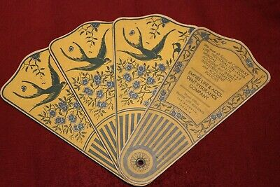 Vintage Trifold Fan Empire Life & Accident Insurance Company Indianapolis IN