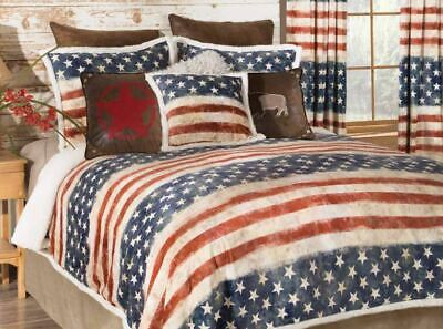 Empire 7 Pc Usa Flag Comforter Set Red Blue White Patriot Bedding Set Bedding Comforters Bedding Sets