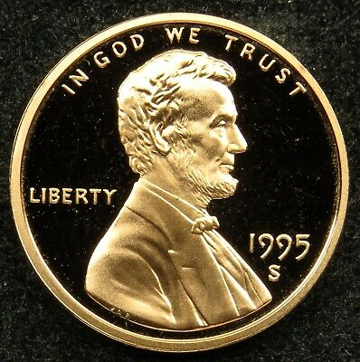 1995 S Deep Cameo Proof Lincoln Memorial Cent Penny (B03)