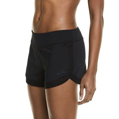 486decd13a3cc NIKE WOMEN'S BLACK Swim Cover Up Pull On Board Shorts Large L Retail ...