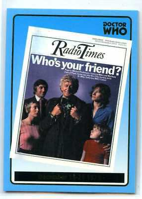 Doctor Who Radio Times Cover Card - R12 - Dec 15-21 1973