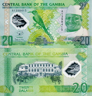 GAMBIA - 20 dalasis 2015 Polymer Commemorative FDS - UNC
