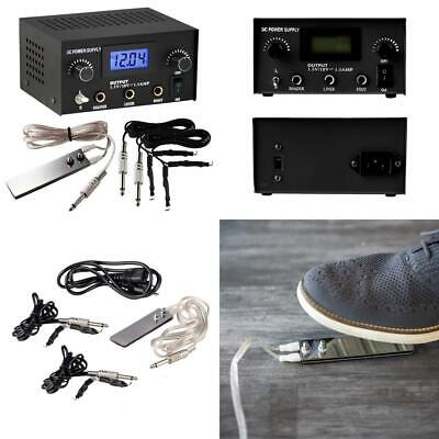 7ada36ef0a101 Pirate Face Tattoo Dual Digital Power Supply with Foot Pedal and 2 Clip.