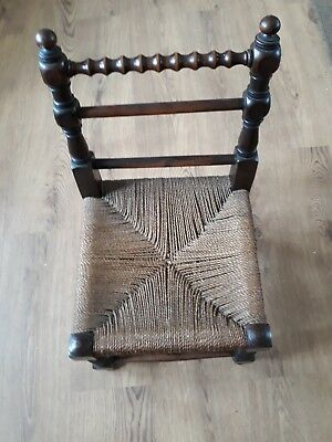 Vintage/Antique  Child's  Turned Wood  Bobbing Arts & Crafts Chair