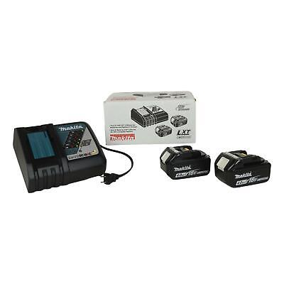 Makita DC18RC 18V Charger & (2) BL1840B Lith-Ion 4Ah Batteries for XWT08Z XPT02Z