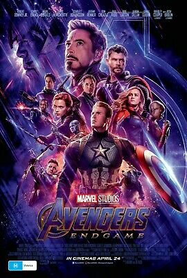 Avengers Endgame Marvel Movie Poster Film Art A4 A3 A2 A1 Wall Print Cinema #1