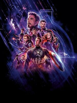 Avengers Endgame Marvel Textless Movie Poster Film Art A4 A3 A2 A1 Print Cinema