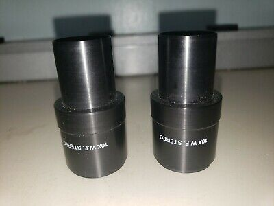 Bausch & Lomb 10X W.F.  31-15-71 Stereo Zoom Microscope Eyepieces (Pair) used