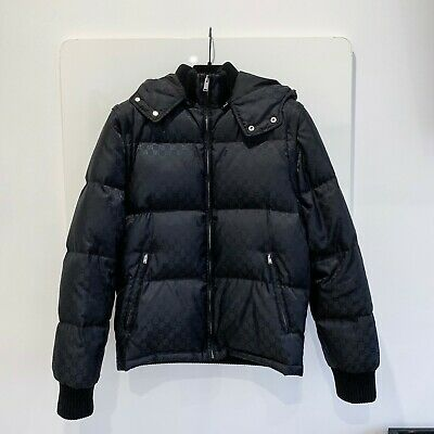 11b41c034481 100% Authentic Mens Gucci Gg Puffa Coat Gilet Jacket - Size 46 (Small)