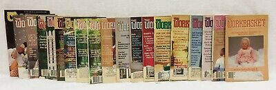 Workbasket Home Arts Magazines & Annies Crochet Vintage 1986 to 1989 Lot of 19