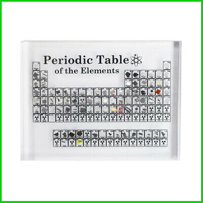 Acrylic Periodic Table of Elements Display Kids Teaching Birthday Teacher's Day