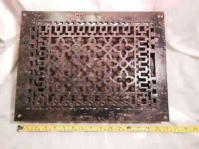 "Antique Vintage Floor Grate Architectural Salvage Steampunk 12""x16"" Free Ship"