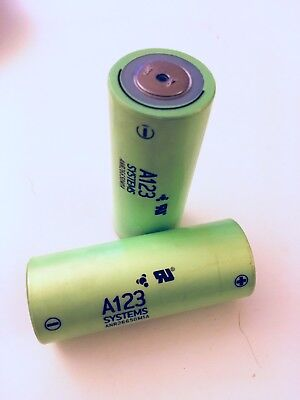 2x Batteries A123 systems ANR 26650 M1A LiFePO4