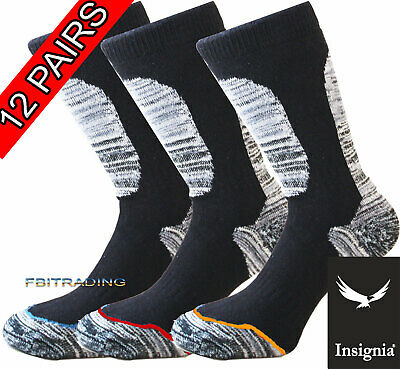 12 Mens Pairs Socks Work Boot Reinforced strong hard wearing heavy duty