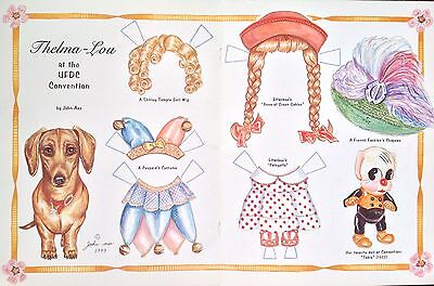 Dachshund Dog, Thelma Lou Paper Doll,1999, By John Axe