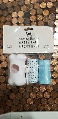 Chasing Baxter Dog Waste Bags and Dispenser with 40 Bags pet accessories New