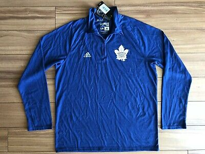 99a8ab53abf Adidas Nhl Toronto Maple Leafs Ls Ultimate Tee Royal Blue Men s Large