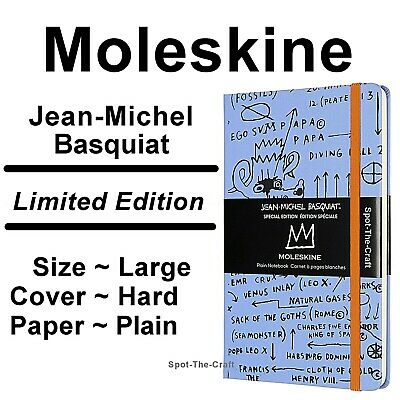 Moleskine Notebook Jean-Michel Basquiat Limited Edition Plain Large Hard Cover