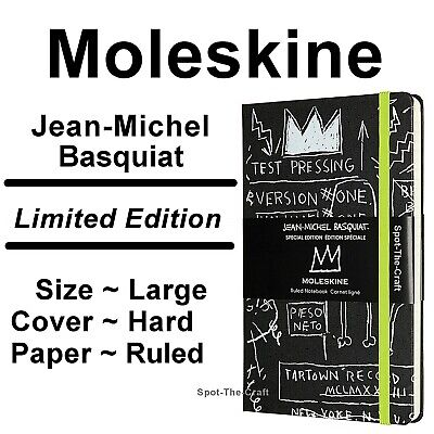 Moleskine Jean Michel Basquiat Large Ruled Notebook Journal