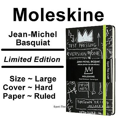 Moleskine Notebook Jean-Michel Basquiat Limited Edition Ruled Large Hard Cover