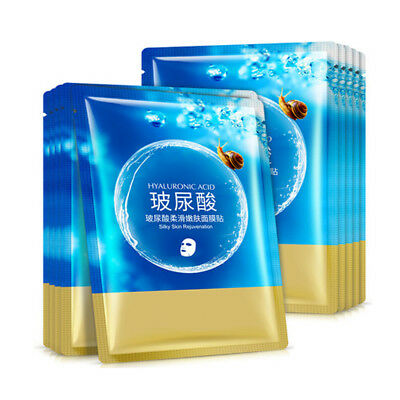 Lots Hyaluronic Acid Collagen Face Mask Sheet Pack Whitening Anti Ageing Care
