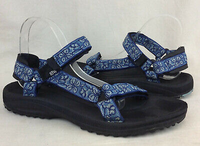 6135f66cc TEVA HURRICANE 3 Blue Floral Strapped Sport Sandals Men s Size 9 ...