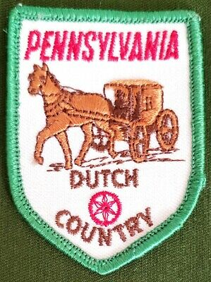"Vintage 2"" Embroidered Patch Pennsylvania Dutch Country"