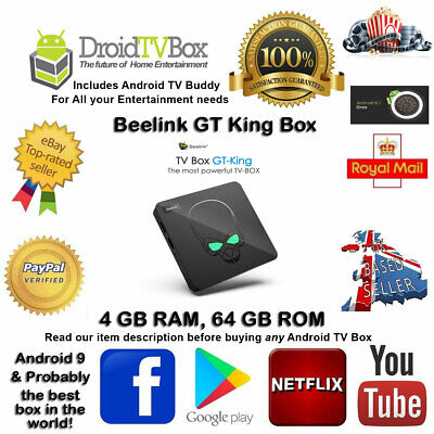 2019 H6 MAX 4GB+32GB Android 9.0 TV Box 4K Media Player Dual Wifi+Best Setup