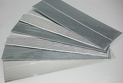 Lot of 6 Aluminium Equipment or Speaker Grilles (260mm x 80mm)