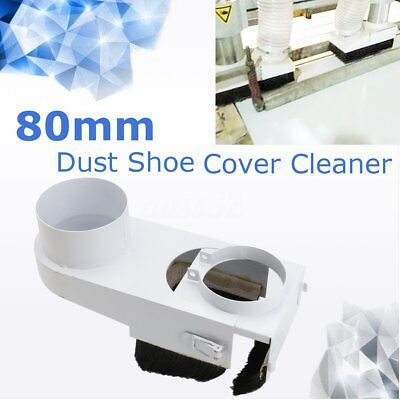 Spindle 80mm Dust Dustproof Shoe Vacuum Cleaner Cover For Woodwork CNC Router