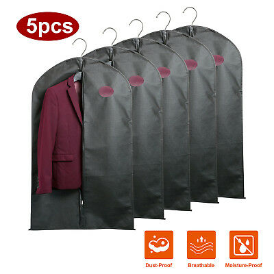 5 Pack Clothing Covers Suit Bag Moth Proof Dust-proof Garment Bags Cover Storage