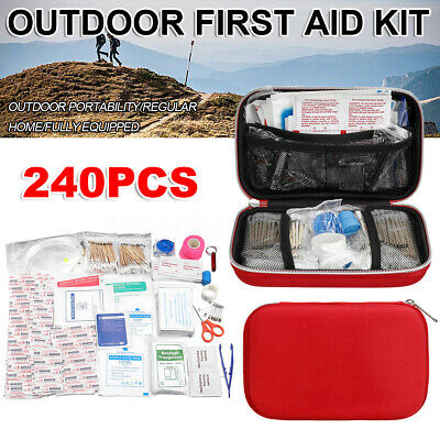 240pcs Outdoor Emergency Survival First Aid Kit Gear Home Office Car Boat Hiking