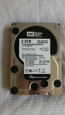 "2TB Western Digital Black WD2002FAEX 7200 RPM 64MB Cache SATA 6.0Gb/s 3.5"" Inter"