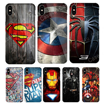 Marvel Captain America Shield Superhero Case Cover for Apple iPhone XS Max XR X