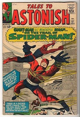 MARVEL Comics TALES TO ASTONISH #57  spiderman 1964 VG/FN- ANT MAN GIANT