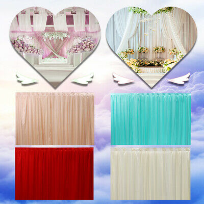 6MX3M Wedding Backdrop Party Photography Background Swags Stage Curtains Drapes