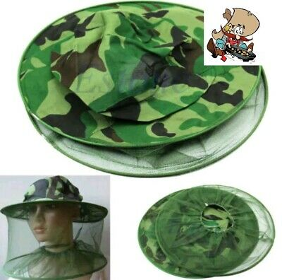 Gold Panning Mosquito Bug Insect Bee Net Mesh Head Face Protector Cap Hat pump