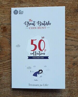 2019 Official Royal Mint Great British Coin Hunt 50p Album, Volume 1 - Brand New