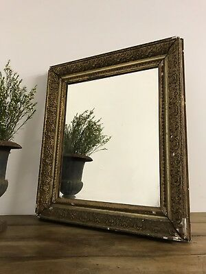 19th Century Antique French Decorative Gold Mirror