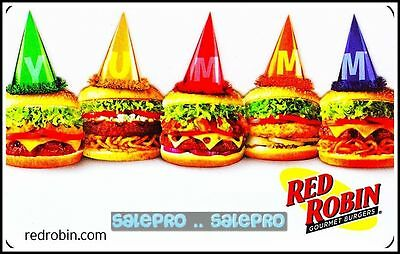 Red Robin Restaurants Usa All Burger Party #6067 Collectible Gift Card
