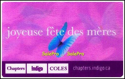Chapters Indigo 2013 Happy Mother's Day French Lenticular Collectible Gift Card