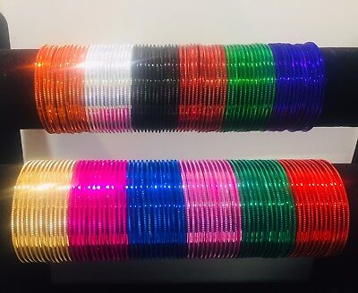 Indian Multi Colour 72bangles Bollywood Bracelet Kids Sizes Girls Designer Shine