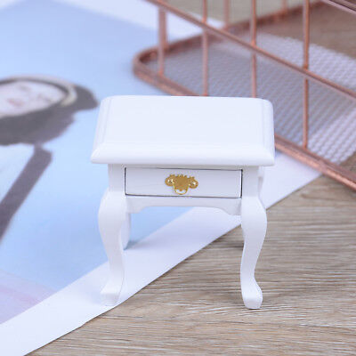 1:12 Dollhouse wooden miniature bedside cupboard dolls mini furniture moderFDES