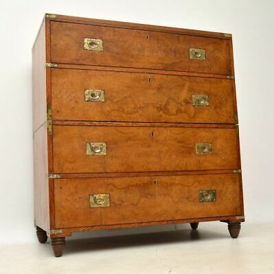 Antique Pollard Oak Military Campaign Chest of Drawers